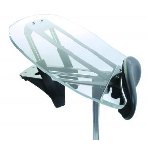 Столик прозрачный с изменяемым углом наклона