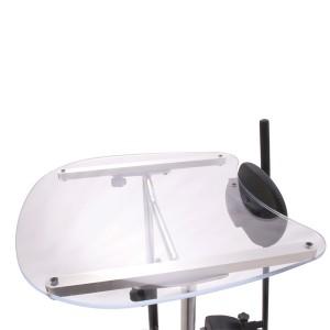 Прозрачный столик ShadowTray вместе с откидывающейся передней частью тренажера