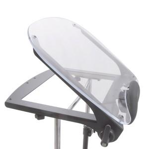 Прозрачный столик ShadowTray с регулируемым (0-35°) углом, вместе с откидывающейся передней частью тренажера