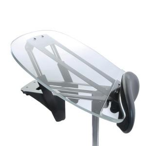 Столик прозрачный узкий с изменяемым углом наклона