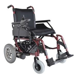 Кресло-коляска инвалидная с электрическим приводом DM-001, серебристая