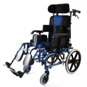 Кресло-коляска инвалидная с ручным приводом DM-914, синяя