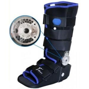 Высокий ортопедический ботинок с регулируемым шарниром и надувом
