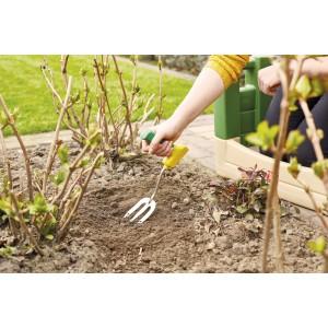 Садовая вилка эргономичная  с короткой рукояткой